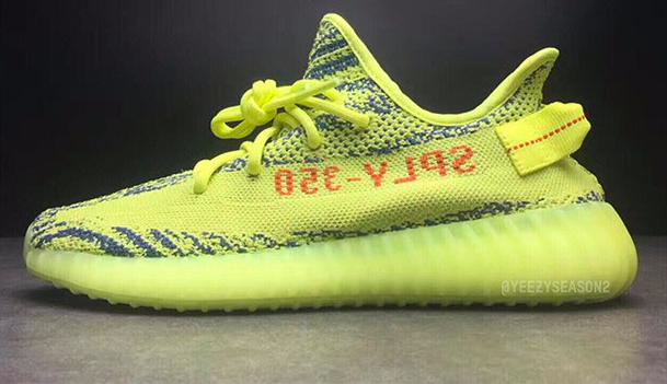 "019b034853b The Adidas Yeezy boost 350 V2 ""Semi-frozen yellow"" is going to be released  next week on Saturday. The sneakers are said to be very limited in  quantity"